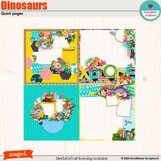 Dinosaurs quick pages by HeartMade Scrapbook