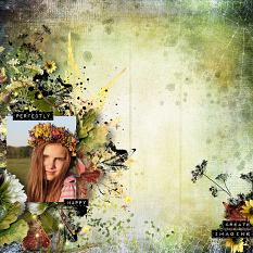 layout using Perfectly Happy Collection Biggie by Florju Designs