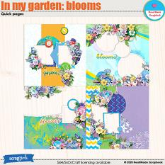 In my garden: blooms - quick pages by HeartMade Scrapbook