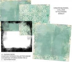 Collage paper created using Grungy Blends Paper Templates