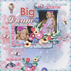 Layout using ScrapSimple Digital Layout Collection:big dream