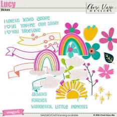 Lucy Stickers by Chere Kaye Designs