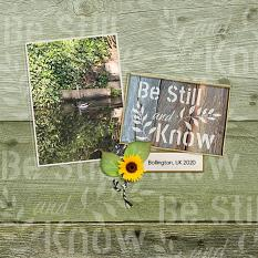 """""""Be Still"""" digital layout features SSWAT: Rustic Renditions"""