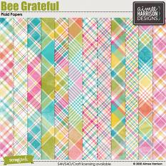 Bee Grateful Plaid Papers