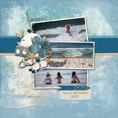 Gulf Shores digital scrapbooking layout using Grunge Effect Textures 2