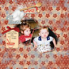 """Li'l Baker"" digital scrapbooking layout using Grunge Effects Texures 2"