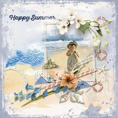 Layout using ScrapSimple Digital Layout Collection:Happy Summer