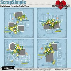 ScrapSimple Digital Layout Templates:the soft time