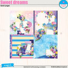 Sweet dreams quick pages by HeartMade Scrapbook.