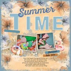 Layout using ScrapSimple Digital Layout Collection:the soft time