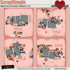 ScrapSimple Digital Layout Templates:waiting for you