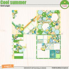 Cool summer quick pages by HeartMade Scrapbook