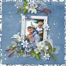 Layout using ScrapSimple Digital Layout Collection:Blue Heaven