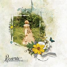 """Reverie"" digital scrapbooking layout using Summer Reverie Collections"