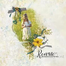 """Reverie, Pleasantly Lost In Thought"" digital scrapbooking layout using Summer Reverie Collections"