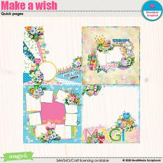 Make a wish quick pages by HeartMade Scrapbook