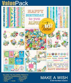 Value pack: Make a wish by HeartMade Scrapbook