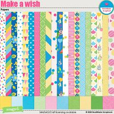 Make a wish papers by HeartMade Scrapbook