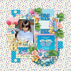 Layout using Make a wish by HeartMade Scrapbook