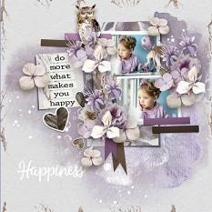 Layout using ScrapSimple Digital Layout Collection:my happiness
