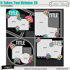 It Takes Two Volume 20 12x12 Templates by Connie Prince