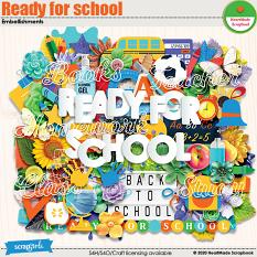 Ready for school - embellishments by HeartMade Scrapbook