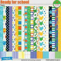 Ready for school - papers by HeartMade Scrapbook