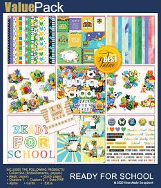 Value pack: Ready for school by HeartMade Scrapbook