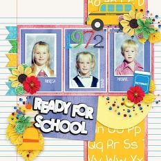 Layout using Ready for school by HeartMade Scrapbook