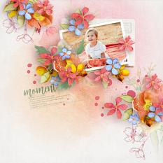 Layout using ScrapSimple Digital Layout Collection:sunny day