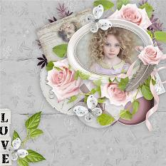 layout using Vintage Grey by BeeCreation