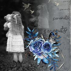 Layout using ScrapSimple Digital Layout Collection:dark and beautiful