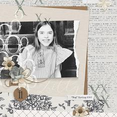 Digital scrapbooking everyday layout by Brandy Murry