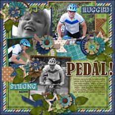 CT Layout using Pics Galore Volume 22 12x12 Templates by Connie Prince