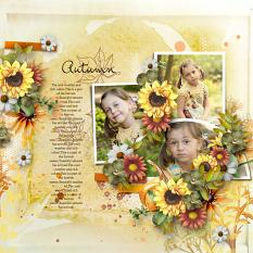 Layout using ScrapSimple Digital Layout Collection:autumn memory