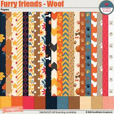 Furry friends - Woof - papers by HeartMade Scrapbook