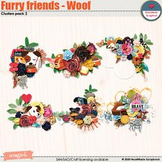 Furry friends - Woof - clusters pack 2 by HeartMade Scrapbook