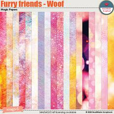 Furry friends - Woof - magic papers by HeartMade Scrapbook