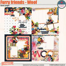 Furry friends - Woof - quick pages by HeartMade Scrapbook