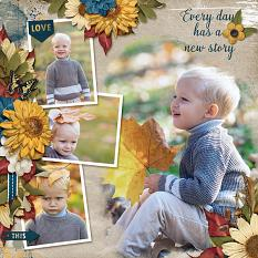 """""""Every Day Has A New Story"""" digital scrapbooking layout using Whisper Of Change Collections Collections"""