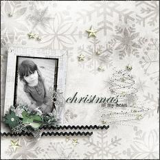 Layout using Silent Night by Designs by Helly