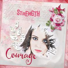 Layout using A Woman Is Collection Mini