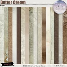 Butter Cream Papers by BeeCreation