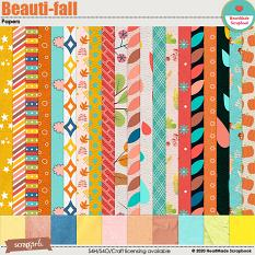 Beauti-fall papers by HeartMade Scrapbook