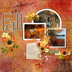 Layout using ScrapSimple Digital Layout Collection:Harvest Season