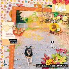 Layout using Beauti-fall by HeartMade Scrapbook
