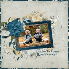 """""""Seasons Change and So Do We"""" digital scrapbooking layout using Whisper Of Change Collections Collections"""