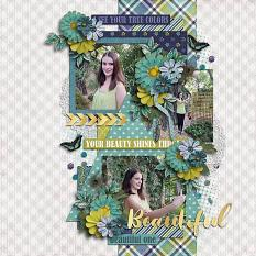 CT Layout using Beautiful One by Connie Prince
