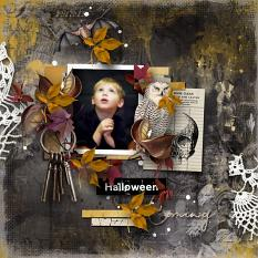 Layout using ScrapSimple Digital Layout Collection:Halloween by Florju Designs