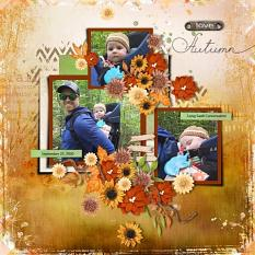 Layout using ScrapSimple Digital Layout Collection:The Miracle Of Autumn